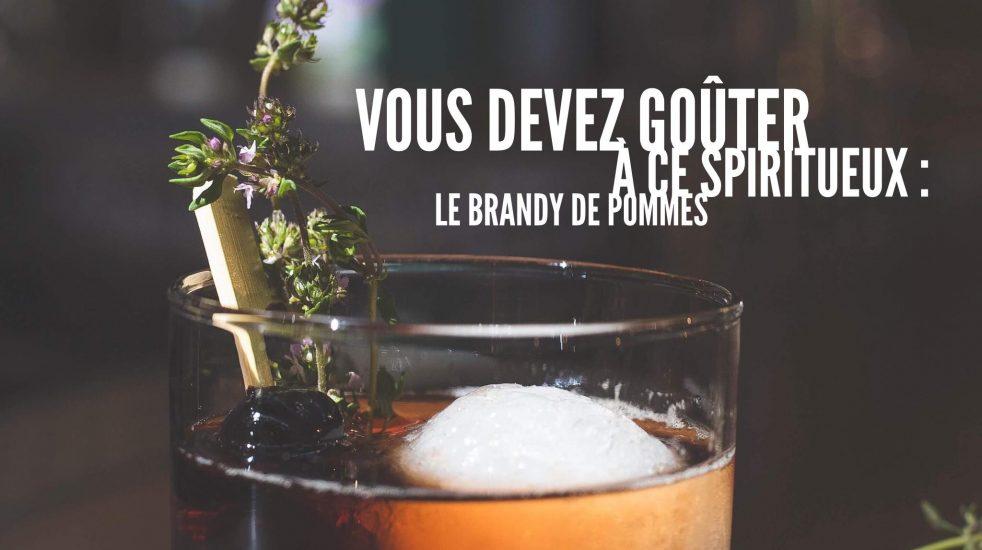 Du brandy de pommes du Domaine Lafrance.