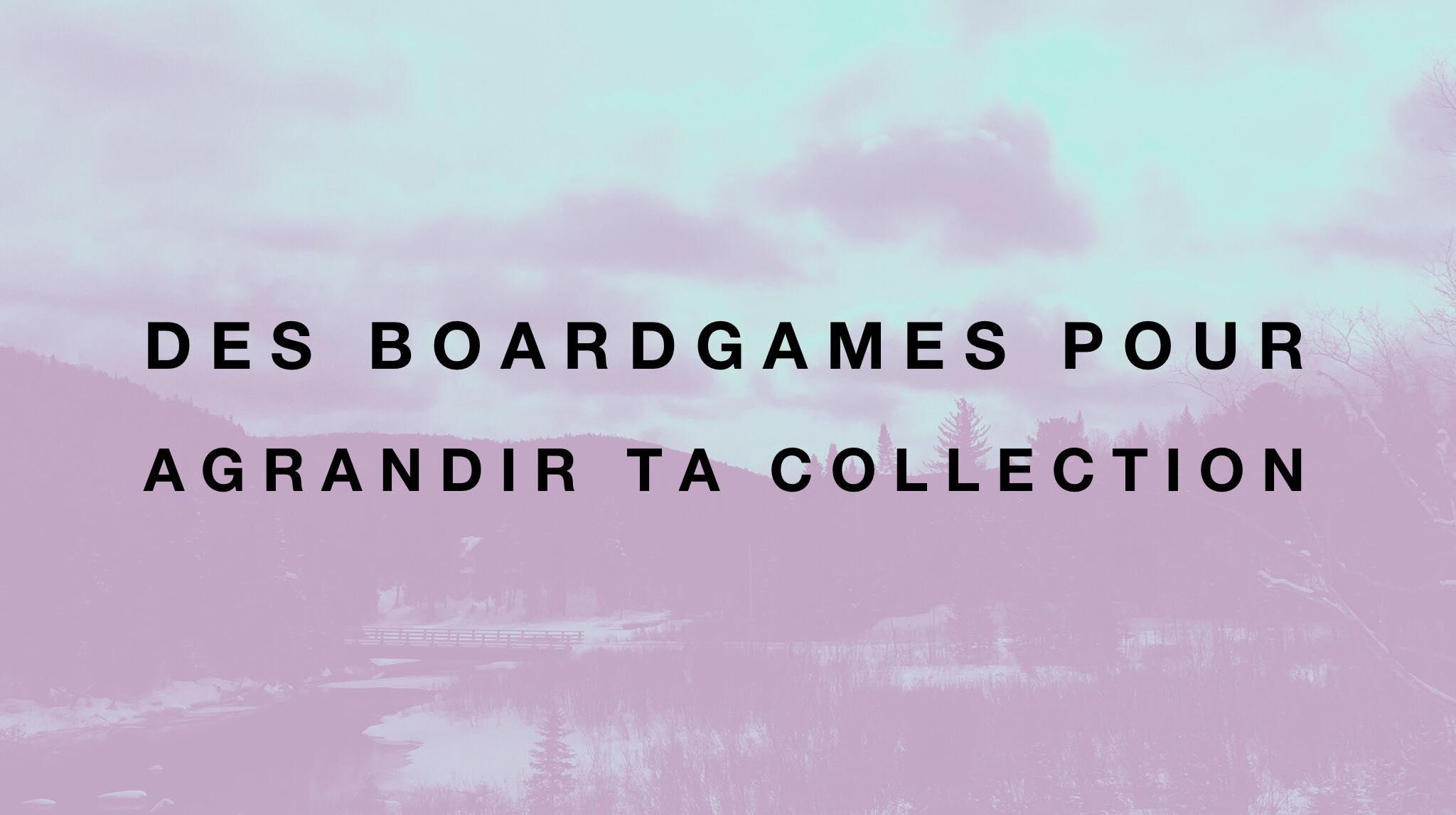 Des boardgames pour plusieurs joueurs.