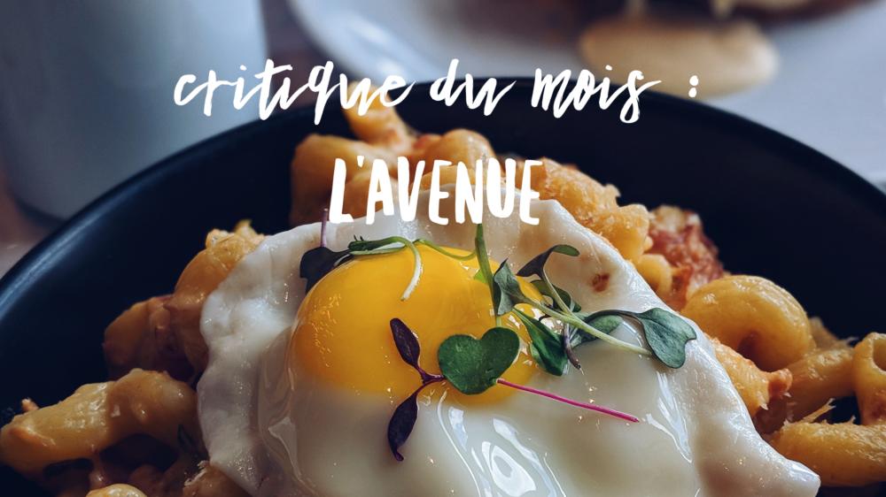 Lancement du restaurant L'Avenue à Boucherville.