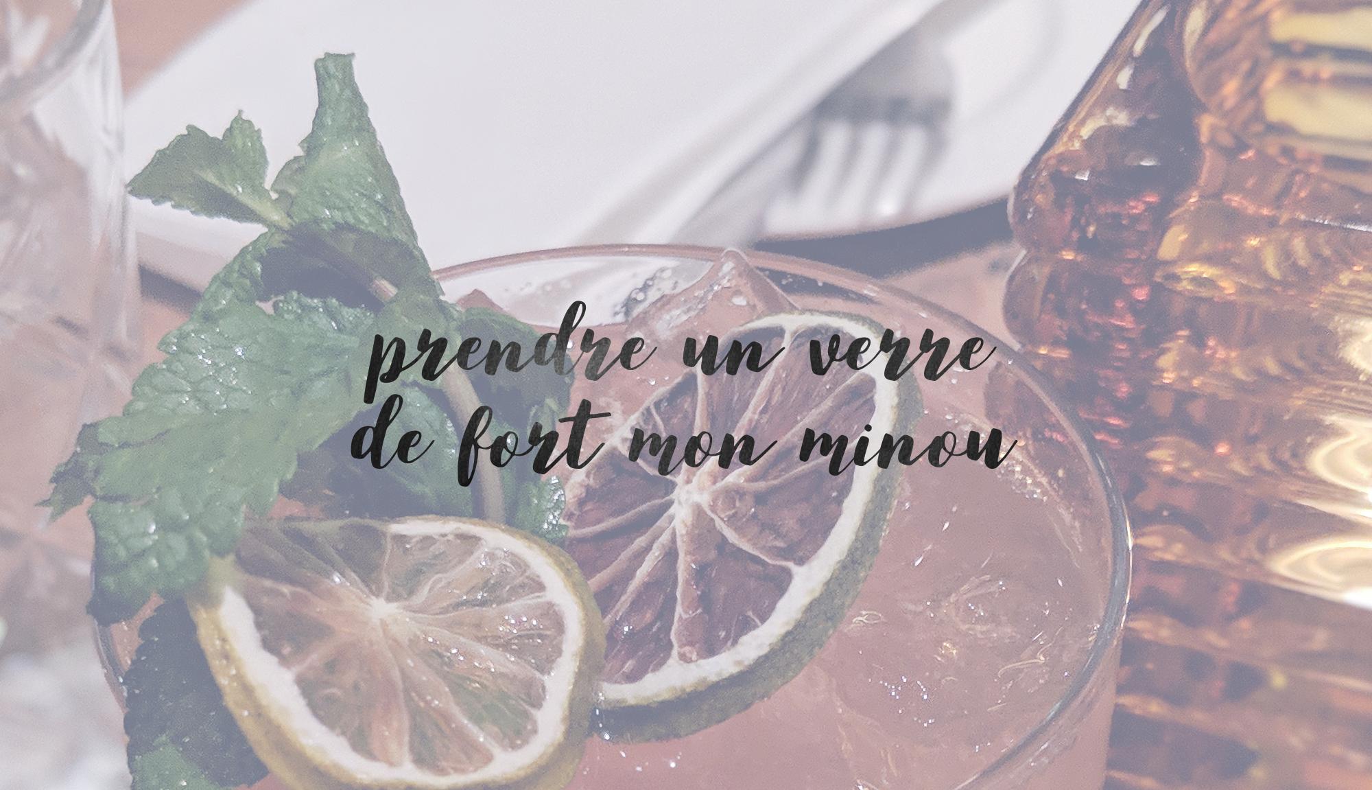 Cocktails et forts pour le temps des Fêtes.
