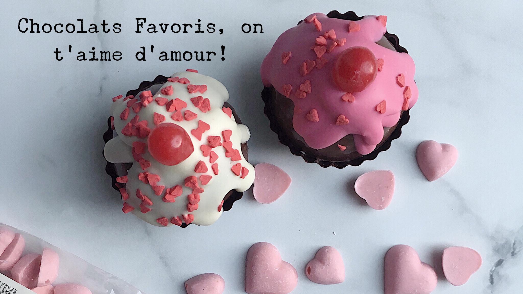 Chocolats Favoris on t'aime d'amour