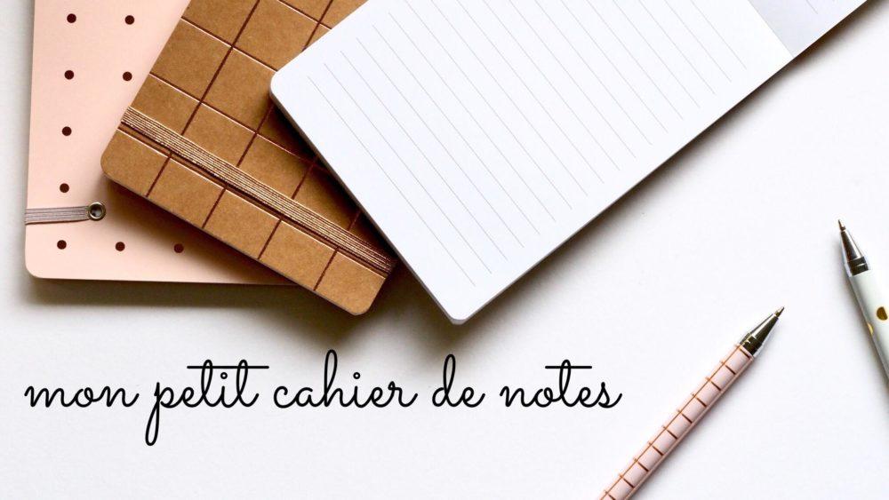 mon petit cahier de notes