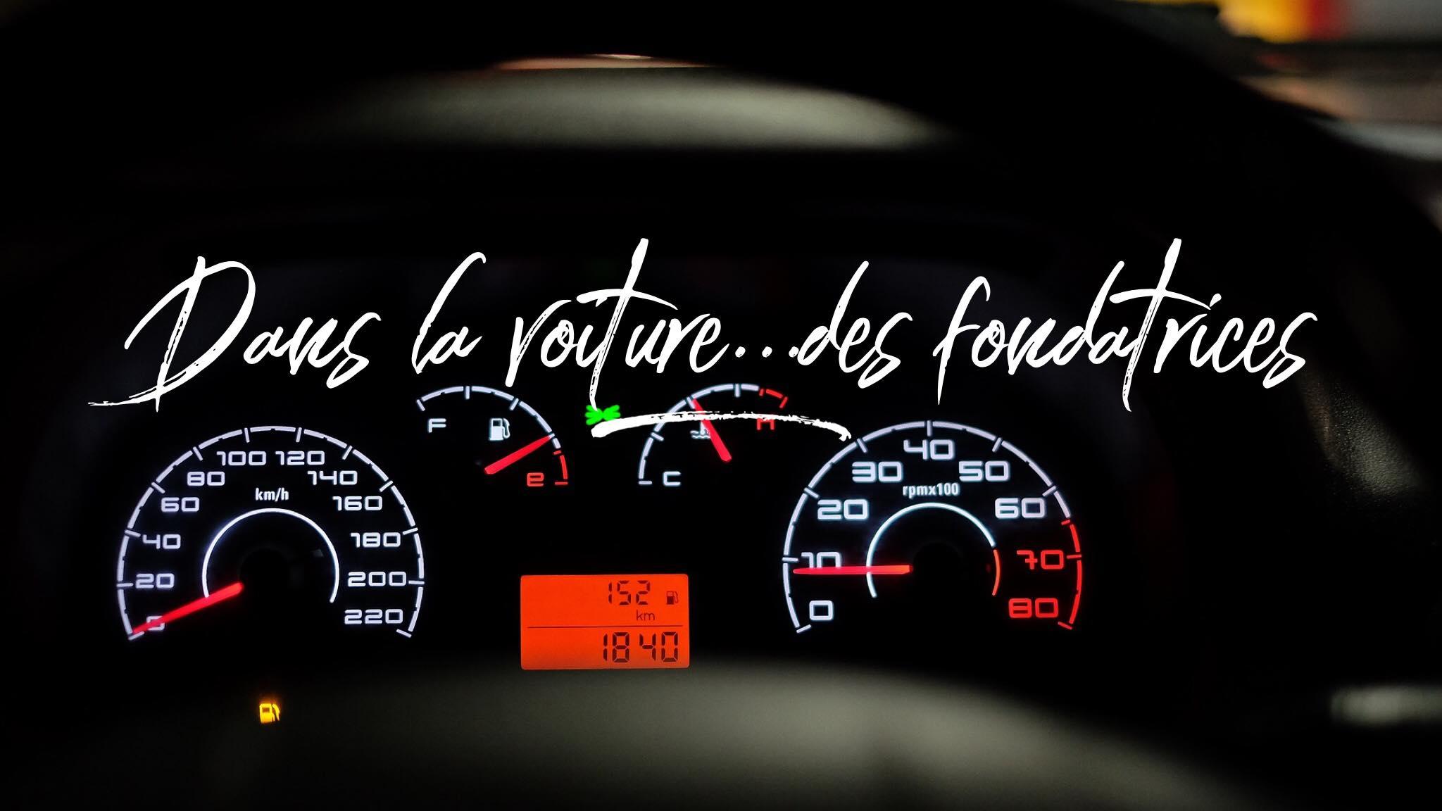 Dans la voiture des fondatrices