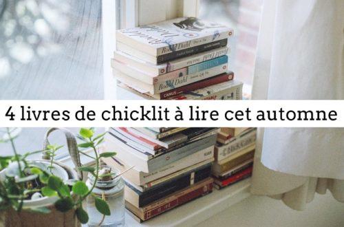 4 livres de chicklit