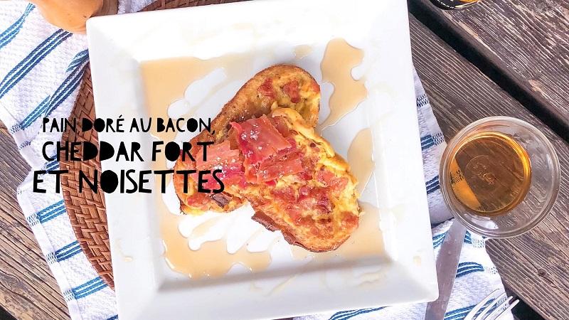 pain doré au bacon