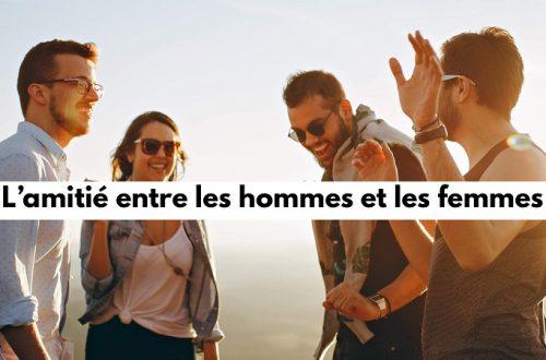 l'amitié homme et femmes